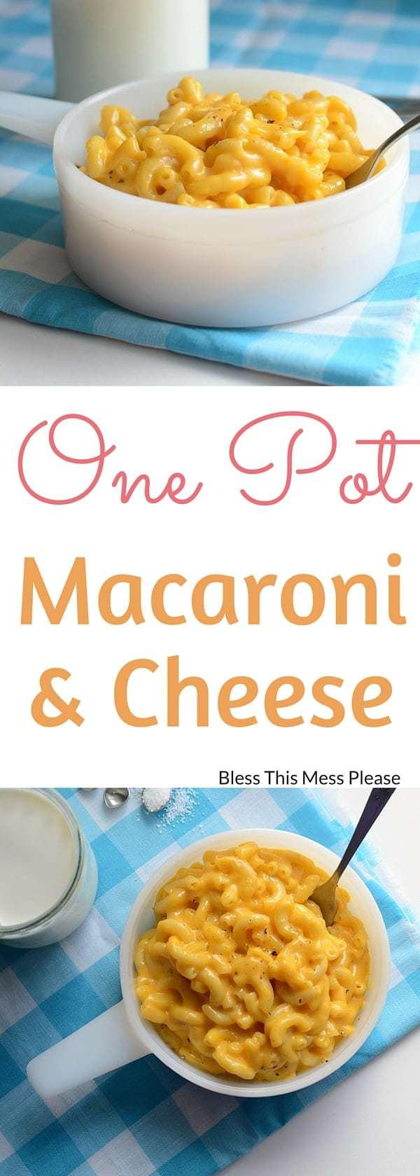 One Pot Macaroni and Cheese
