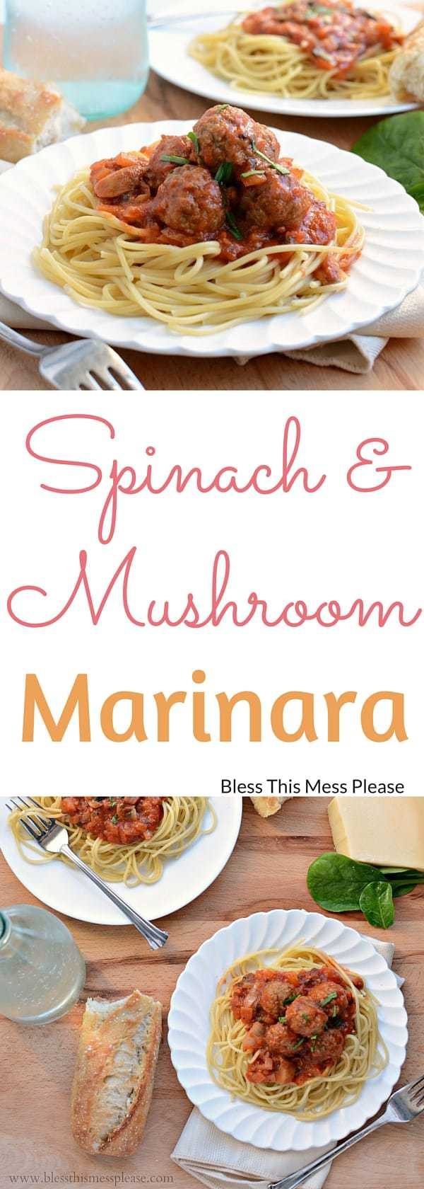 Spinach and Mushroom Marinara