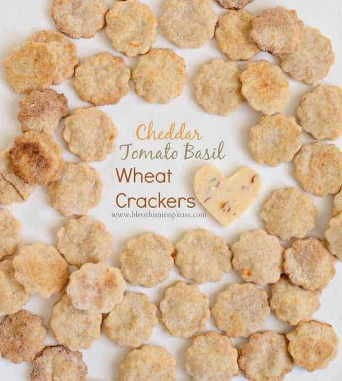 Tomato Basil Cheese Crackers