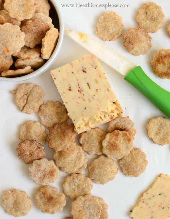 Homemade Tomato Basil Cheese Crackers easier than you'd think!