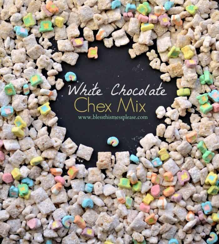 White Chocolate Chex Mix with Lucky Charms — Bless this mess