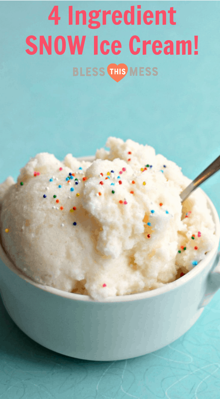 <em>Quick and easy snow ice cream made from fresh snow, evaporated milk, and a little sugar and vanilla. Four ingredients never tasted so good!</em><br />