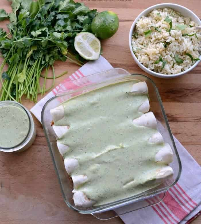 Tomatillo Ranch Burritos from The Food Nanny