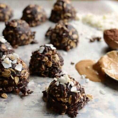 Healthy Coconut No-Bake Cookies