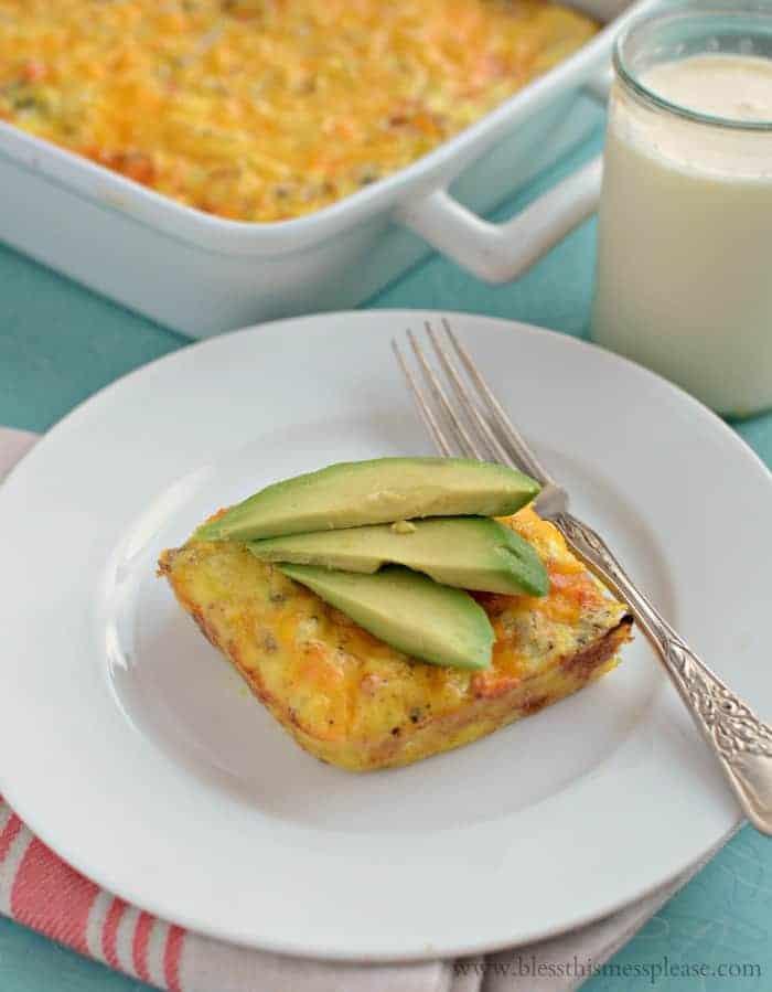 Quick and easy dinner idea! Baked Denver Omelet