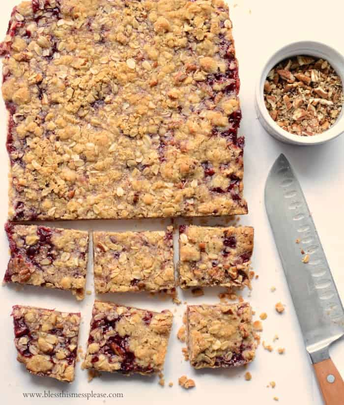America's Test Kitchen's Raspberry Streusel Bars