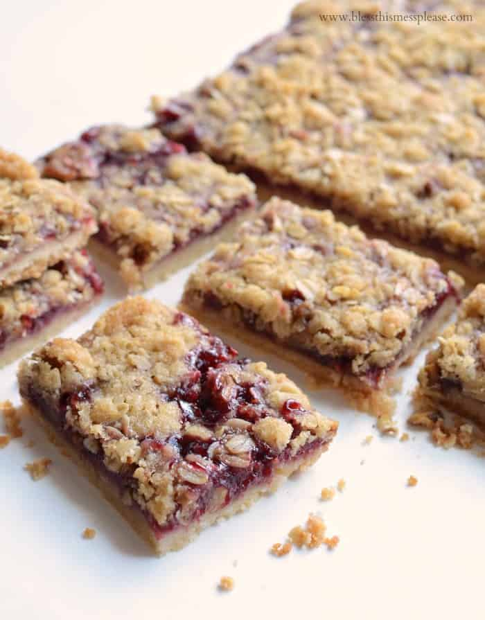 America's Test Kitchen's Raspberry Streusel Bars - Bless This Mess