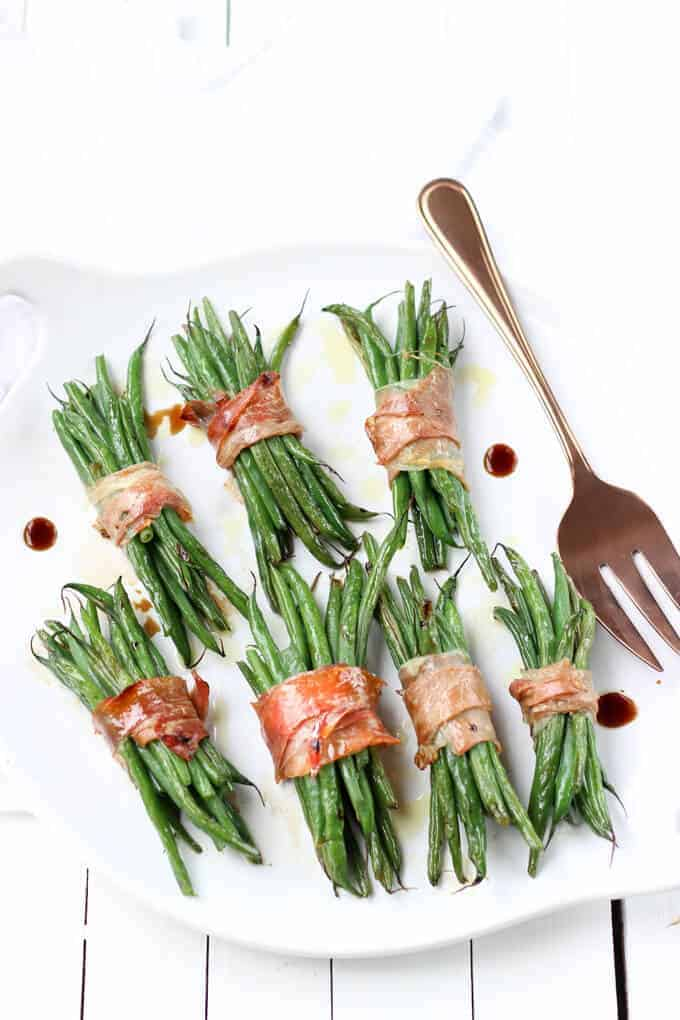 fresh green beans with prosciutto