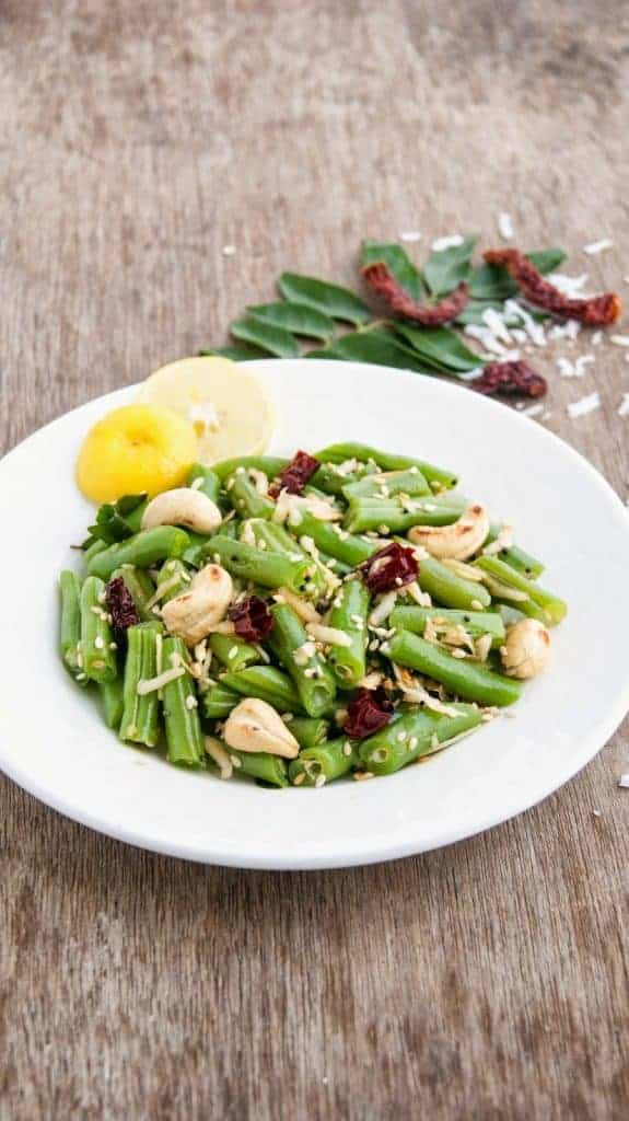 Fresh Green Beans - Green Bean, Cashew Nut, and Coconut Salad