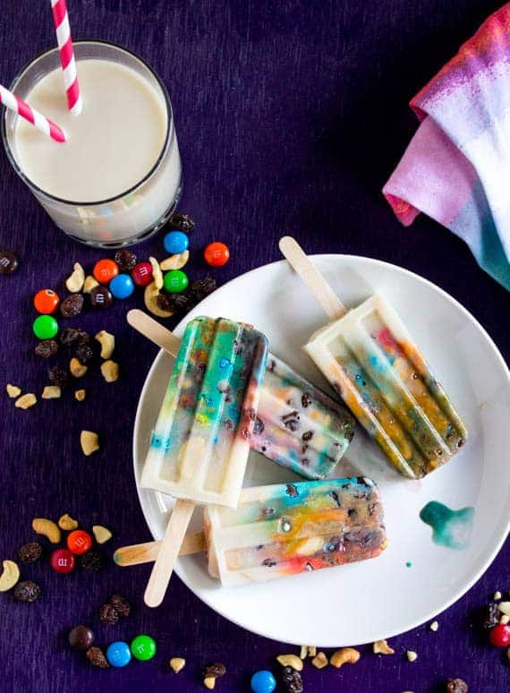 Image of Rainbow Trail Mix Popsicles