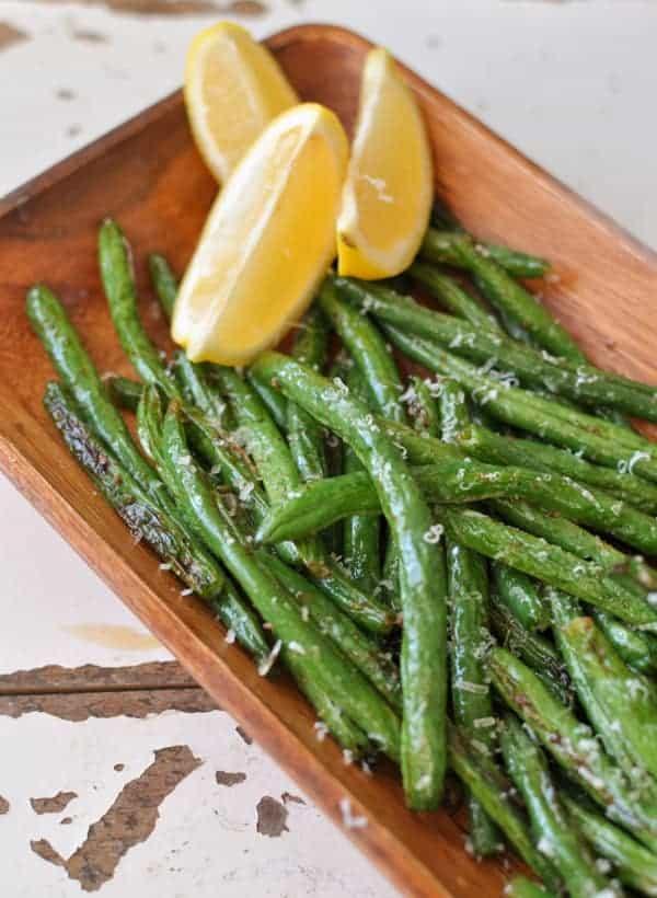 Fresh Green Beans - Roasted Lemon Garlic Green Beans