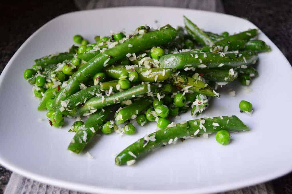 Fresh Green Beans - Coconut Green Beans and Peas