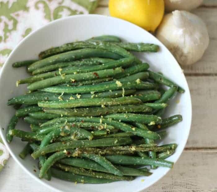 Fresh Green Beans - Lemon and Garlic Green Beans