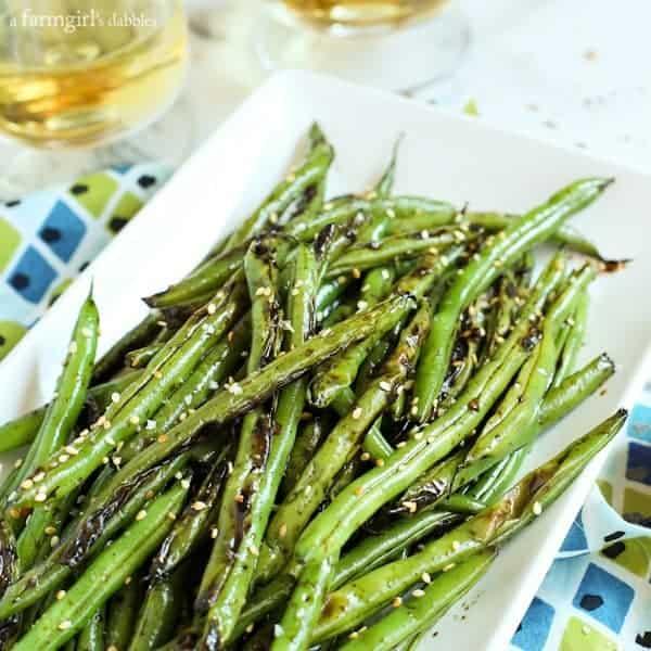 Fresh Green Beans - Blistered Teriyaki-Ginger Green Beans