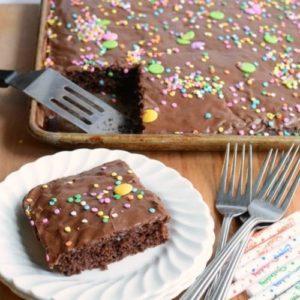 Image of chocolate sheet cake