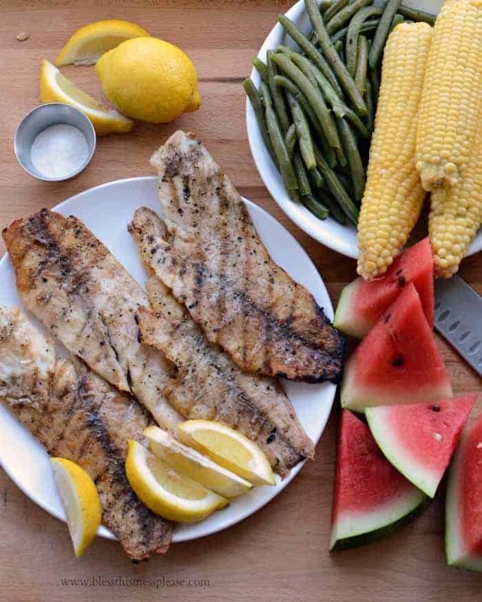 Perfect and Simple Grilled Fish Fillets - Bless This Mess