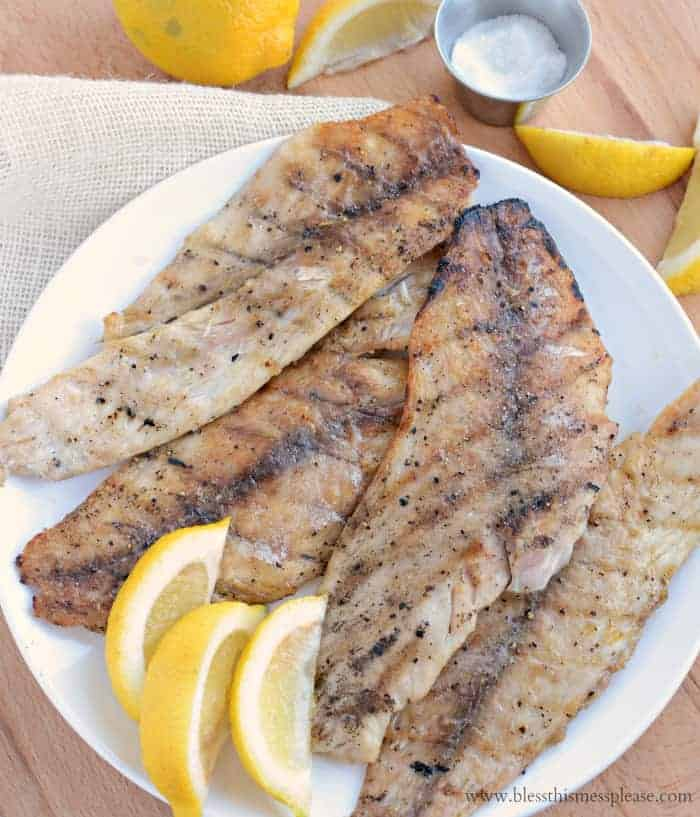 Perfect and simple grilled fish fillets bless this mess for Drum fish recipes