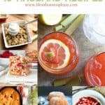 Title Image for 15 Rhubarb Recipes with six examples of rhubarb recipes for baked goods and beverages