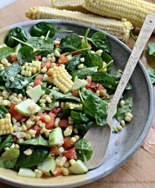Image of fresh corn salad