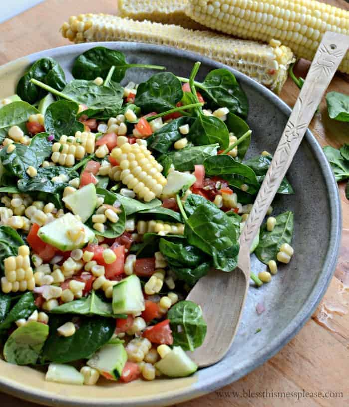 Sweet and Simple Fresh Corn Salad