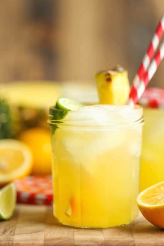 A glass of pineapple lemonade
