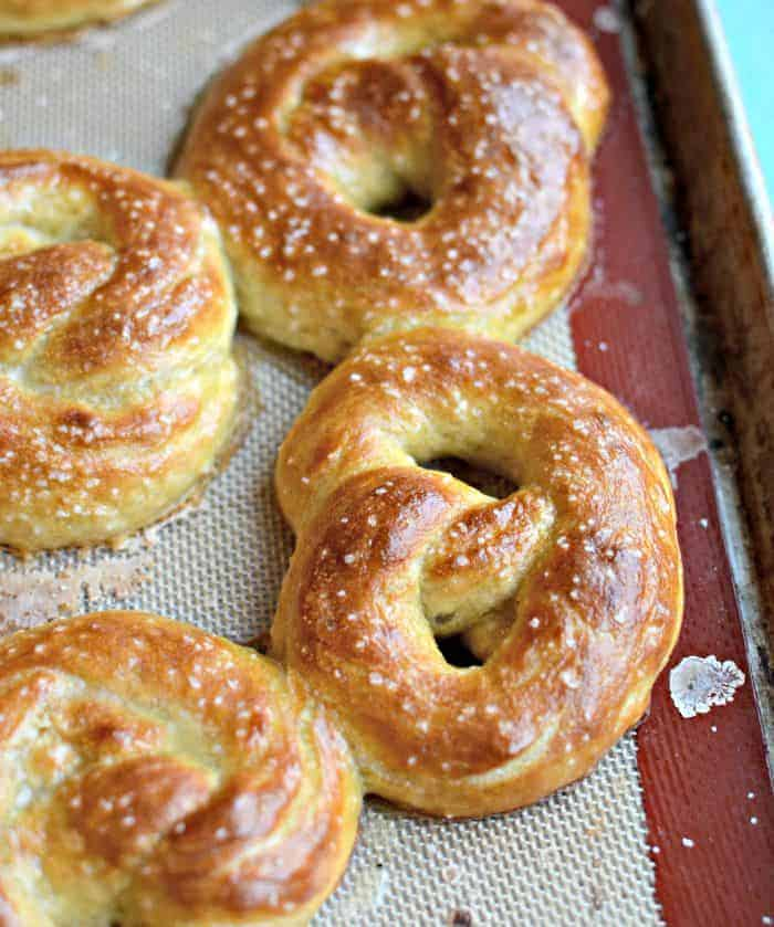 Hot Buttered Pretzels from King Arthur Flour