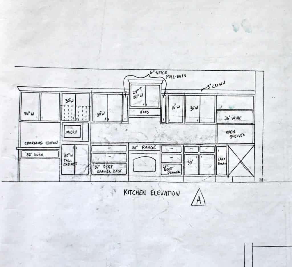house plans cabinet elevation A