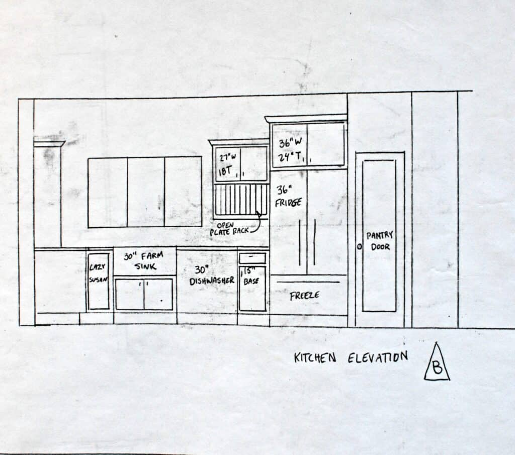 house plans cabinet elevation B