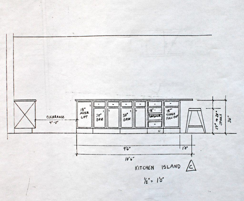 house plans cabinet elevation c