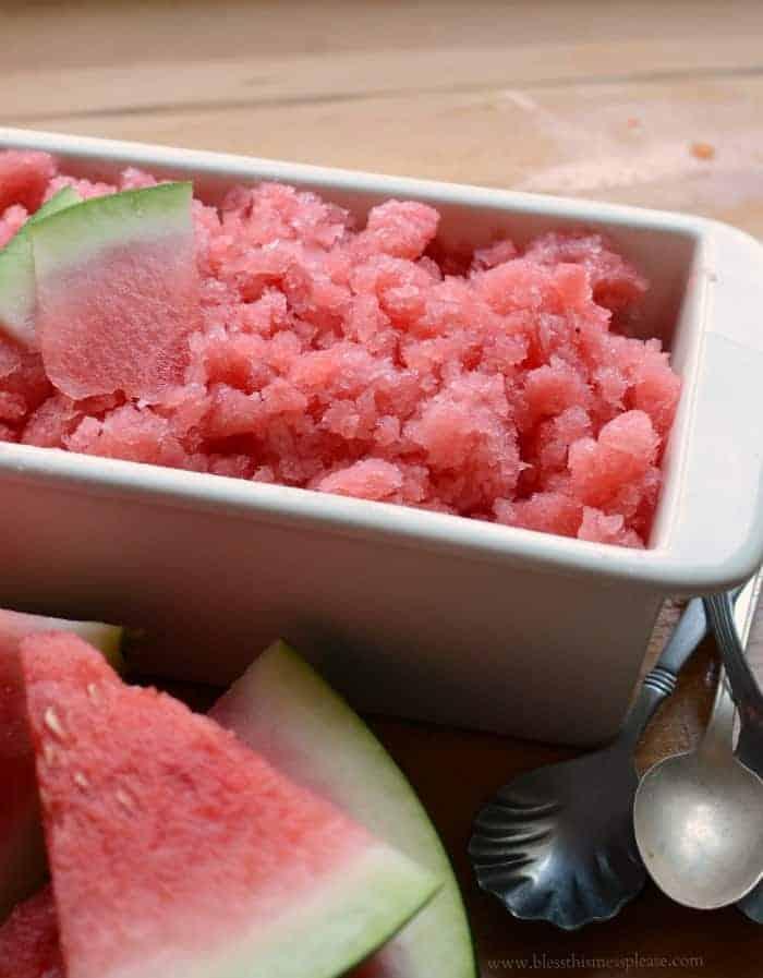 Easy 3 Ingredient Watermelon Granita the best summer dessert recipe!