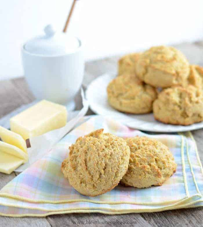 Maple Cornmeal Biscuits — Bless this Mess