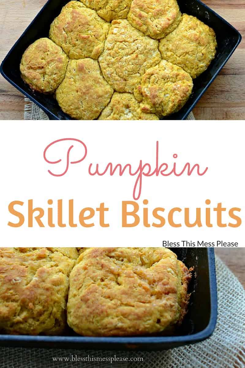 Pumpkin Skillet Biscuits