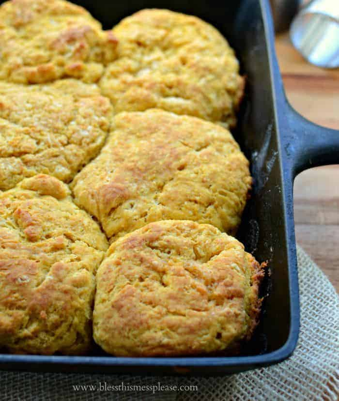 Pumpkin Skillet Biscuits because pumpkin!!