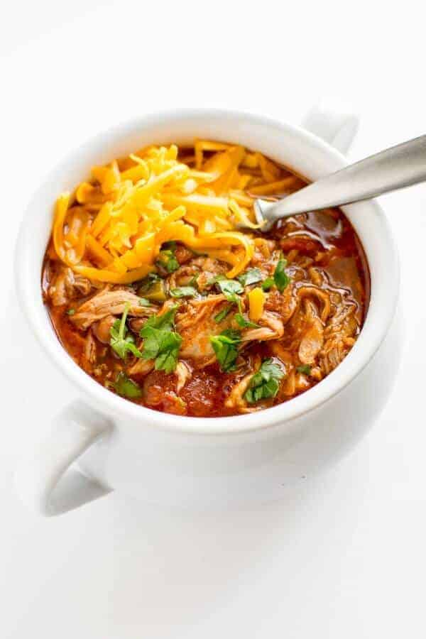 The best Slow Cooker Chili Recipes on the internet all in one place including chicken chili, meatless lentil chili, and more!