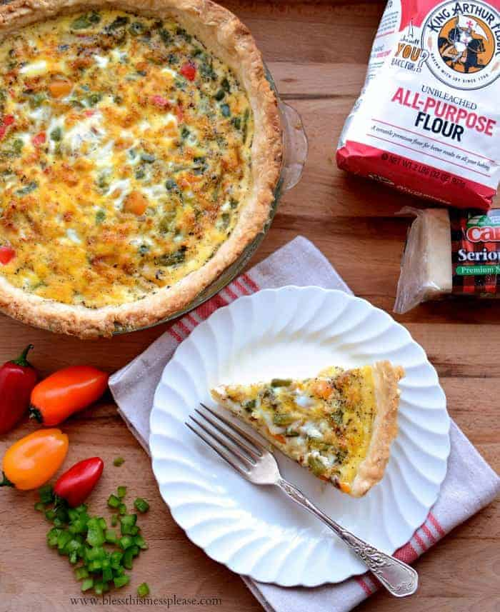 South of the Border Cheesy Bacon Quiche