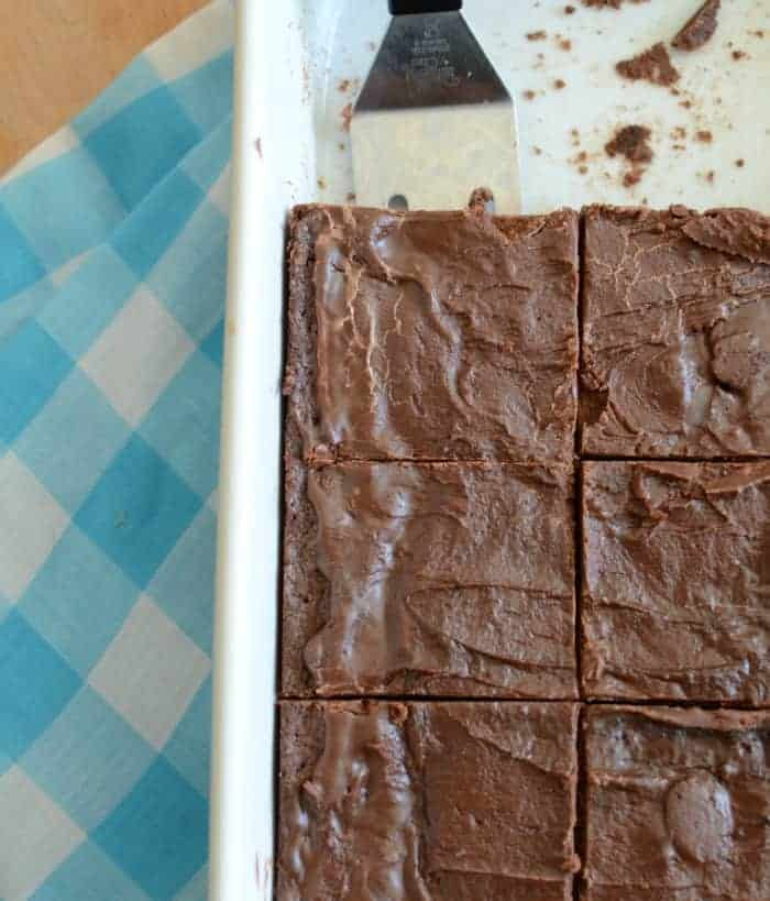 Lunch Lady Brownie recipe - thick fudgy milk chocolate brownie perfection