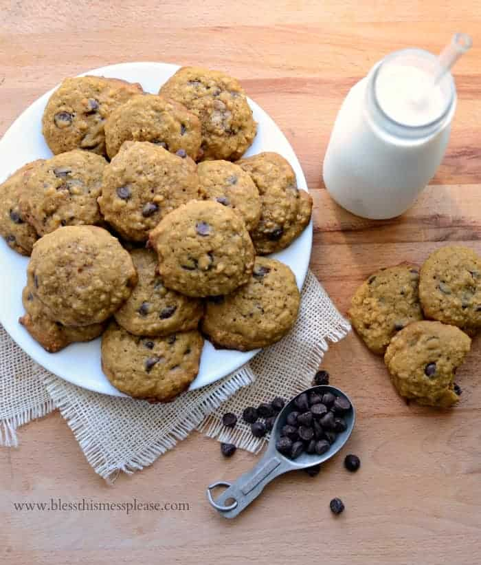 Pumpkin Oatmeal Chocolate Chip Cookies ditch the cake mix because a little more effort always tastes better!