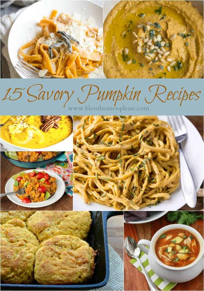 12 Savory Pumpkin Recipes so that you can eat pumpkin for all your meals and dessert!