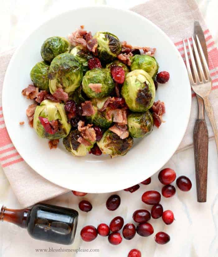 Roasted Brussels Sprouts With Onions, Bacon And ...
