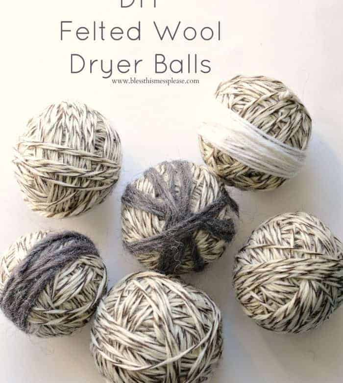 DIY Felted Wool Dryer Balls