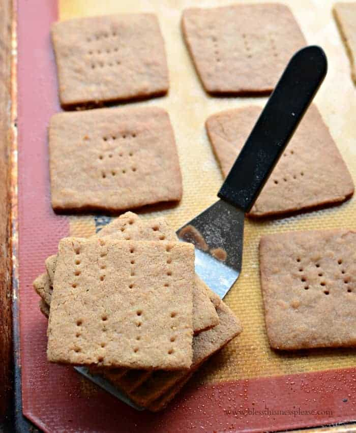 Image of homemade graham crackers