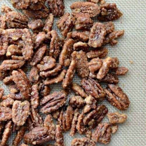 Maple Candied Pecans (Naturally Sweetened)
