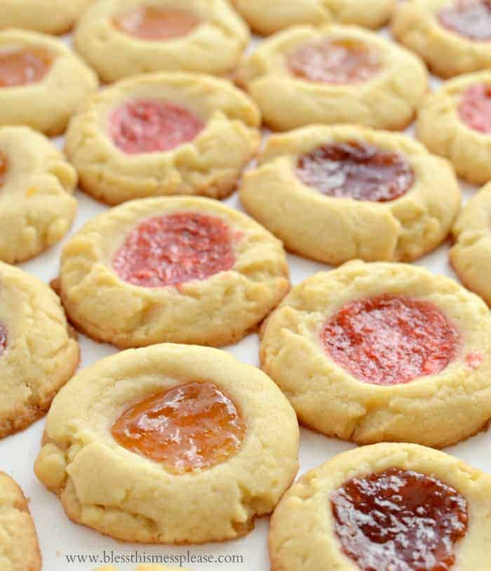 Shortbread Jam Thumbprint Cookies