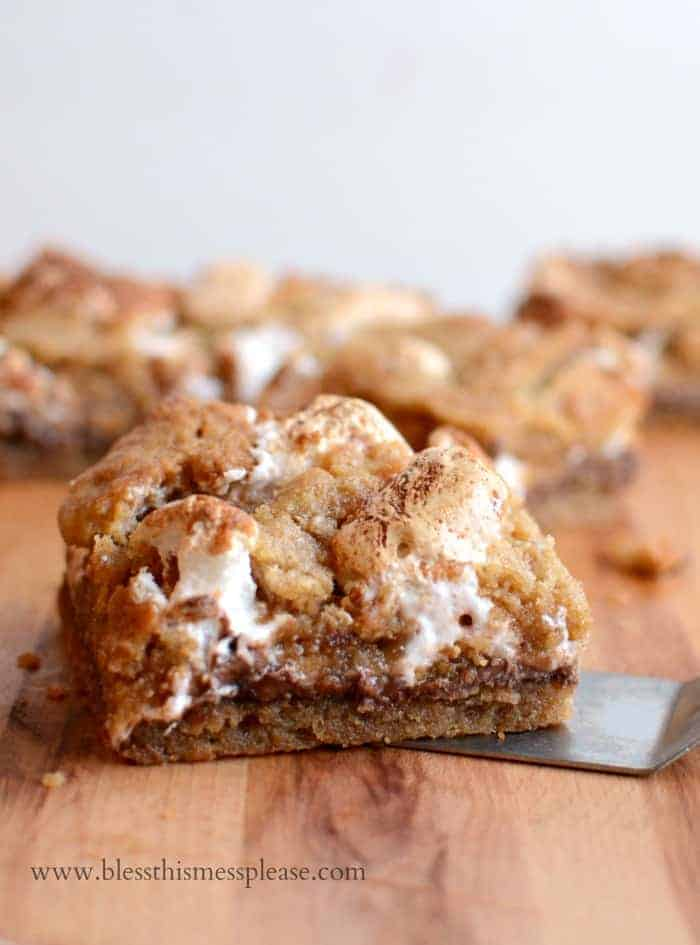 Amazing Nutella S'mores Bars