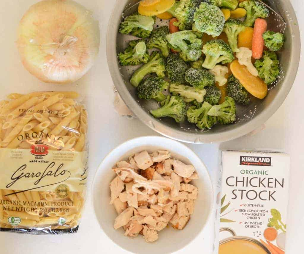 Creamy Chicken and Vegetable Baked Pasta - Ingredients