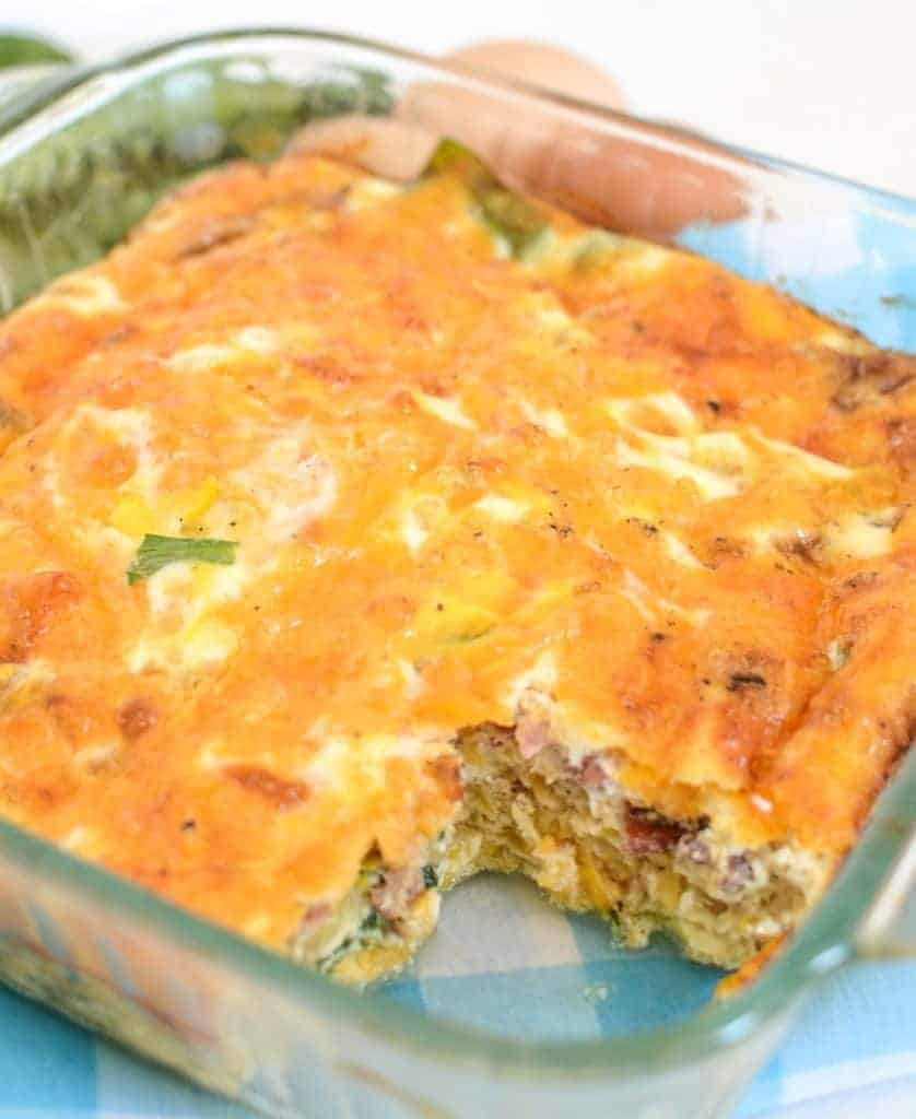 Easy Vegetable and Cheese Egg Bake