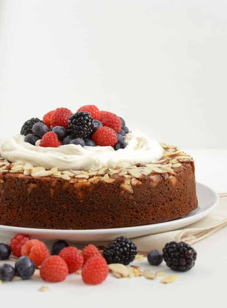 Whole Wheat Honey Cake a great whole food dessert recipe!