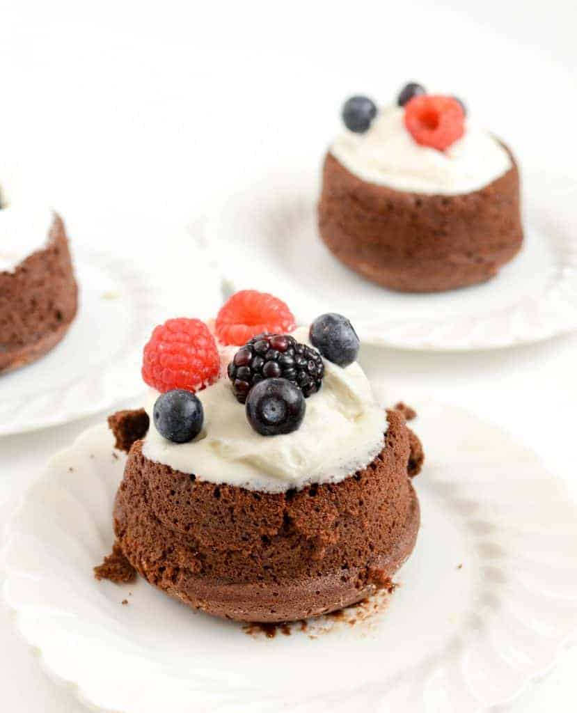 Chocolate Molten Lava Cakes only take a total of 20 minutes from start to eating!