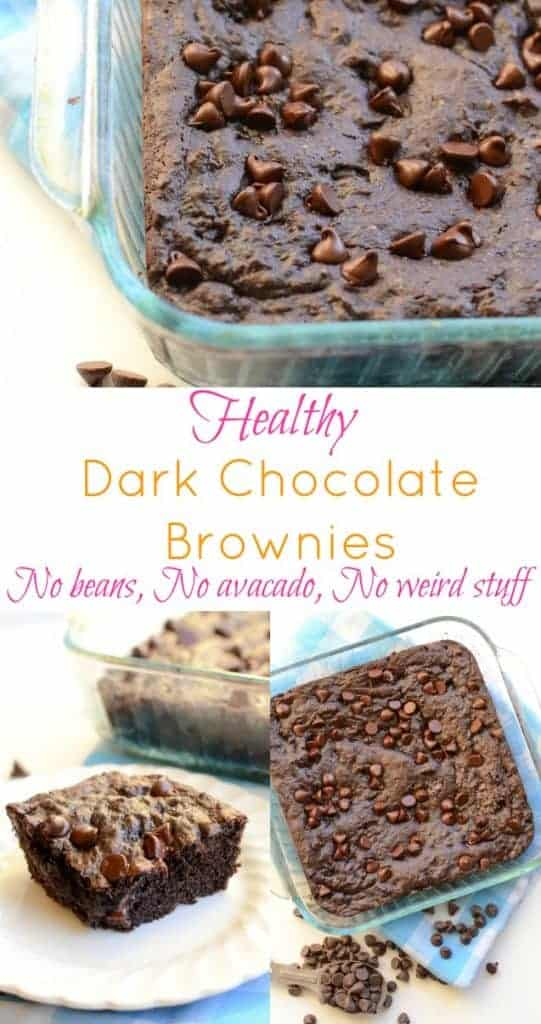 Healthy Lower Calorie Brownie recipe (no beans, no avocado, nothing weird inside!)
