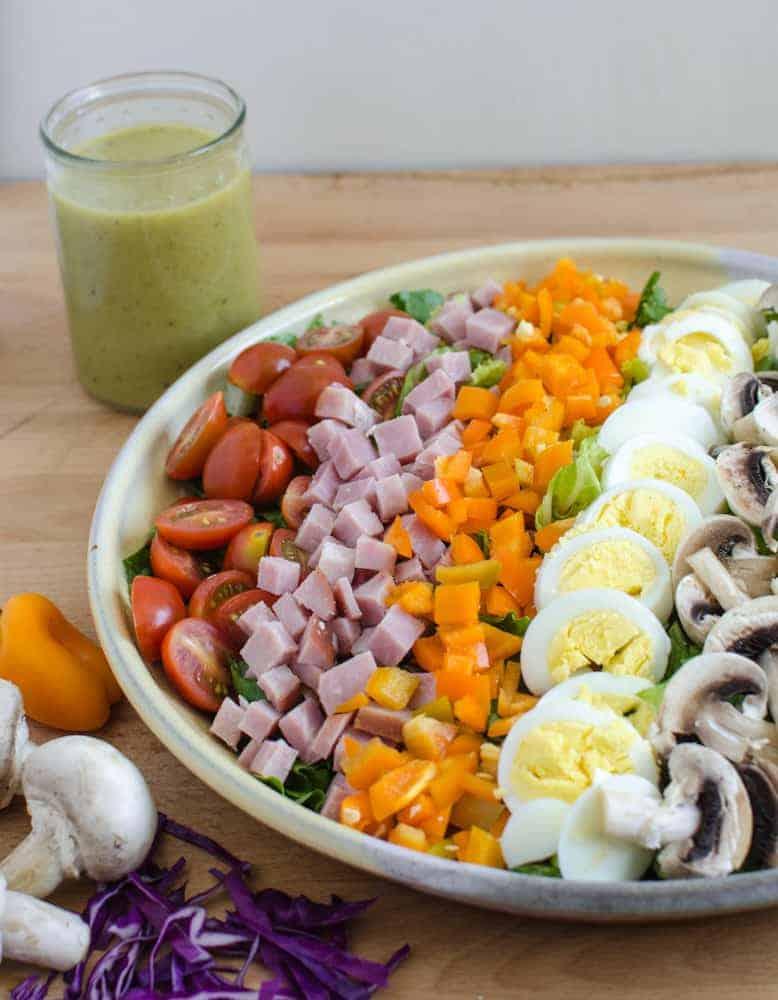 Rainbow Salad - Honey Mustard Vinaigrette